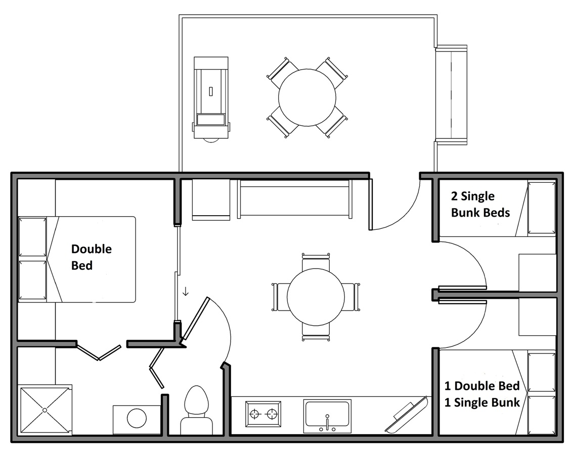 Cabin F Floor Plan