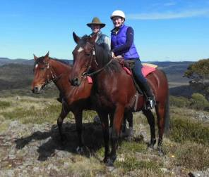 Horse Riding Snowy Montains