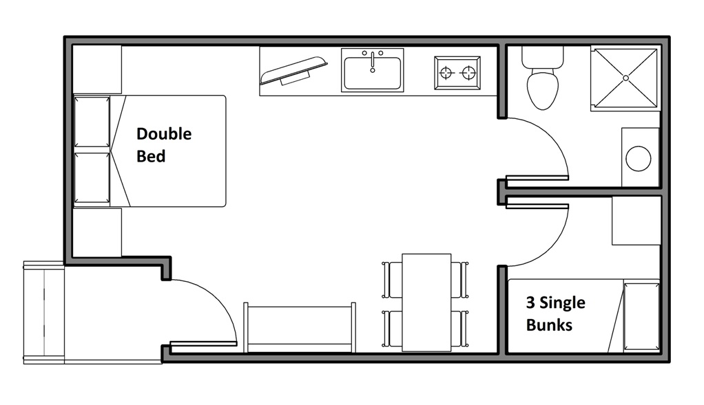 Cabin D and E floor plan