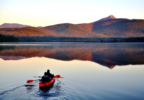 Kayak Snowy Mountains